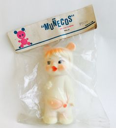 Oryginalnie zapakowana lalka z Kuby! #vintage #vintagefinds #vintageshop #forsale #design #midcentury #midcenturymodern #cuba #vinyl #toy #kids