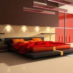 luxury modern red bedroom decorating ideas Very complementary
