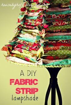 how to make a fabric strip lampshade via housebyhoff.blogspot.com