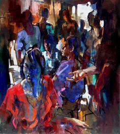 Nacido en Edimburgo en 1953, se trasladó a Hastings en 1987, donde vive y trabaja desde entonces. Su labor como dibujante y pintor la...