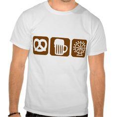 Oktoberfest - Munich T Shirt Oktoberfest - Munich - Germany - Party - Event - Drinking - Alcohol - Beer - pretzel - Ferris wheel - big wheel - Bavaria $25.95