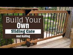 Porch Gate, Front Porch Railings, Deck Railings, Deck Railing Kits, Diy Dog Gate, Diy Gate, Pool Deck Gate Ideas, Pool Ideas, Outdoor Dog Gate