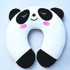 Panda Pattern Plush U-Shaped Pillow Kids Travel Pillows, Kids Pillows, Panda Love, Cute Panda, Panda Decorations, Panda Pillow, U Shaped Pillow, Panda Party, Neck Pillow Travel