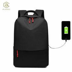 8e81885abddbd Mens Women Backpack USB Laptop Travel School 50 L Zipper Bag Notebook  Rucksack - Travel Backpack