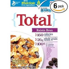 Total Raisin Bran Cereal, 18.25-Ounce Box (Pack of 6)