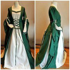 Medieval Dress Custom Made Renaissance Gown Renfaire LARP