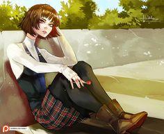Makoto Niijima by Hassly on DeviantArt Haru Okumura, Makoto Niijima, Manga Artist, Female Girl, Harry Potter Art, Girls Characters, Persona 5, Anime Love, Cool Art