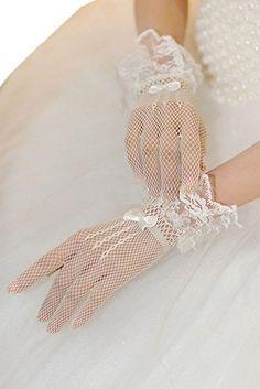 Bigood Sexy Gants de Mariage Femme Dentelle Résille Soirée Nœud Papillon  Beige  Amazon.fr 2637a8fc85e