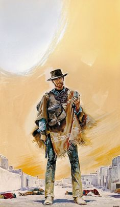 A Fistful of Dollars 1964 Clint Eastwood cult western Movie Art Silk Poster Clint Eastwood, Eastwood Movies, Movies Wallpaper, Films Western, Westerns, Cowboy Art, Western Cowboy, Western Style, West Art