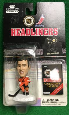 Eric Lindros Corinthian Headliners Figurine by CoryCranksOutHats on Etsy