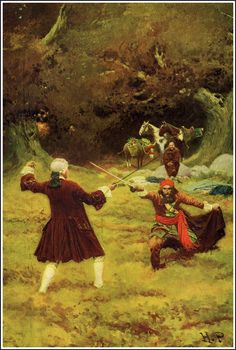"""The ambush"", Artist, Howard Pyle (1853–1911)  American illustrator"