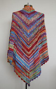 Country Cotton Shawl: free #crochet pattern by Lion Brand Yarn