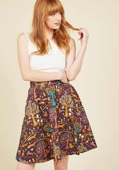 This Woodland is Your Land Skirt | Mod Retro Vintage Skirts | ModCloth.com