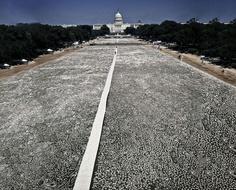 One Million Bones, an art installation in Washington to condem genocide