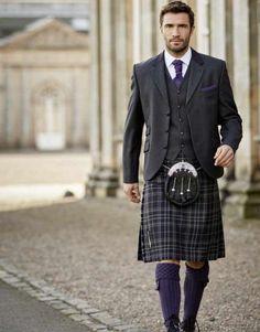 Imgur: The magic of the Internet Scottish Man, Scottish Fashion, Scottish Outfit, Kilt Wedding, Tartan Wedding, Wedding Attire, Under The Kilt, Kilts For Sale, Utility Kilt
