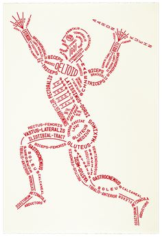 Image of Muscular Typogram - Print