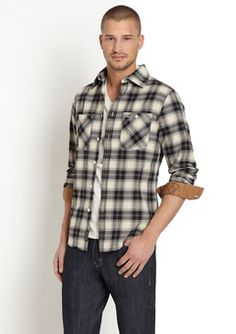 Black/White Plaid Long Sleeve Woven Shirt by JUST A CHEAP SHIRT