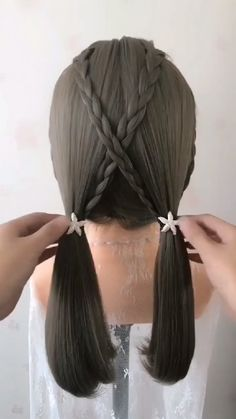 Amazing braided hair tutorial amazing by myhairstyle_xo Easy Hairstyles For Long Hair, Braided Hairstyles, Everyday Hairstyles, Formal Hairstyles, Wedding Hairstyles, Cute Hairstyles For School, Creative Hairstyles, Beautiful Hairstyles, Medium Hair Styles