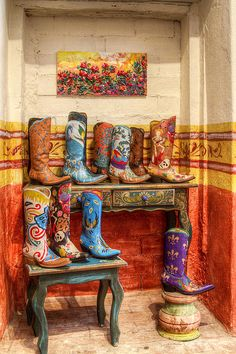 Boot Shop in San Miguel de Allende, Mexico. The boots are designed and handcrafted in San Miguel, and personally fitted to the buyer.