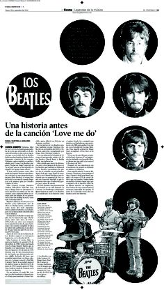 Editorial Design 2004-2013 Diana Gonzalez / dianagonzi Diario El Universo Music / The Beatles I Magazines, covers, newspapers