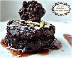 receta brownie chocolate con mermelada de fresa