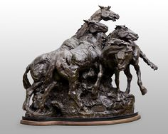 InSight Gallery Artist: Bruce Greene - Title: Storm On The Plains, bronze  H 36in x W 43in x D 38in