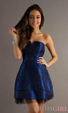 Short Strapless Royal Blue Dress.  beyonddd