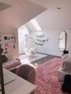 45 cute and girly bedroom decorating tips for girl 16 - Cute Bedroom Decor, Cute Bedroom Ideas, Girl Bedroom Designs, Stylish Bedroom, Modern Bedroom, Contemporary Bedroom, Bedroom Ideas For Small Rooms For Teens For Girls, Cool Rooms For Teenagers, Girl Room Decor