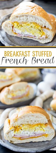 Breakfast stuffed french bread easy to make and packed with flavor, plus a secret ingredient. #ad #JonesDairyFarm - Eazy Peazy Mealz