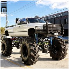 Monster Dodge Ram. www.CustomTruckPartsInc.com is one of the largest Truck accessories retailer in Western Canada. Toll Free 1-855-868-8802