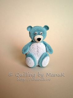 Quilled Teddy Bear II by Manuk