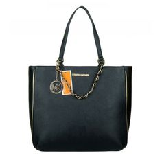 #MichaelKorsBags Life Will Be Perfect With Michael Kors Specchio Harper Logo Large Black Totes! Come On!