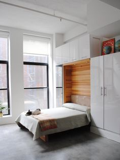 12 Ways to Fake a Bedroom - Murphy Bed Designs | Bedrooms & Bedroom Decorating Ideas | HGTV >> http://www.hgtv.com/design/rooms/bedrooms/fake-a-bedroom-pictures?soc=pinterest