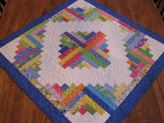 Patchwork Log Cabin Table Topper / Look For 20% Off Coupon in My Shop / Good on Everything. $45.00, via Etsy.