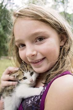 me when i was 9 with my kitten