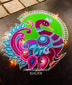 51 Diwali Rangoli Designs Simple and Beautiful Rangoli Designs Peacock, Rangoli Designs Latest, Latest Rangoli, Rangoli Border Designs, Rangoli Patterns, Colorful Rangoli Designs, Rangoli Ideas, Rangoli Designs Diwali, Diwali Rangoli