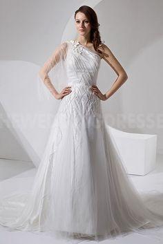 Unique White Organza Wedding Dress - Order Link: http://www.theweddingdresses.com/unique-white-organza-wedding-dress-twdn4006.html - Embellishments: Beading; Length: Floor Length; Fabric: Organza; Waist: Natural - Price: 182.9345USD