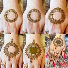 ♡ Pinterest: riafinette ☆ Circle Mehndi Designs, Round Mehndi Design, Mehndi Designs Book, Modern Mehndi Designs, Mehndi Designs For Girls, Mehndi Design Photos, Henna Designs Easy, Latest Mehndi Designs, Tatoo Henna