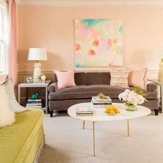 Best Houses of 2016: Petticoat Pink Living Room