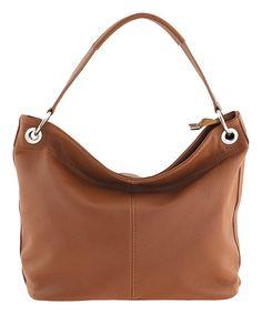 Giulia Camel Leather Hobo