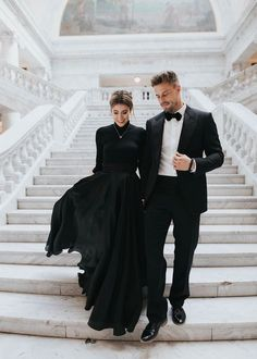 Black tie - couple | men's attire | women's attire | dress code | black tie | formal attire | gentleman | lady