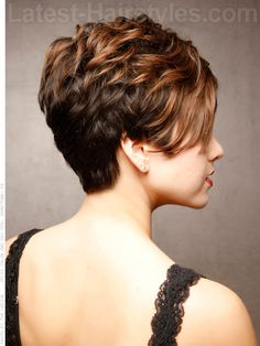 Sweet and Sassy Short Cropped Style with Highlights Side View