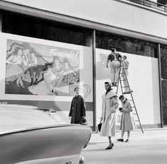 Rita Hayworth and Daughter Rebecca In Paris