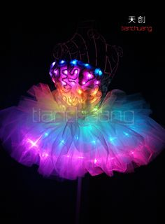 Wireless Dmx 512 Control Full Color Led Light Up Tutu