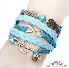 New Jewelry Fashion Leather Cute Infinity Charm Bracelet Silver Lots Style Pick   eBay