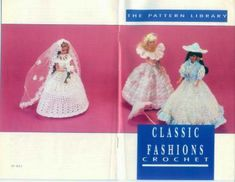 barbie classic fashions crochet book OOP