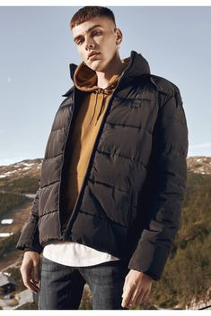 Puffer Jackets, Winter Jackets, Urban Classics, Black And Navy, Look Cool, Snug, How To Look Better, Raincoat, Products