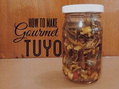 In my recent post, I featured gourmet tuyo in a pasta recipe. I found the 230 gram bottle available in the supermarket to be expensive for a price of Php so I thought of making my own. Gourmet Tuyo Recipe, Gourmet Recipes, Cooking Recipes, Gourmet Foods, Sardine Recipes, Fish Recipes, Asian Recipes, Ethnic Recipes, Filipino Recipes