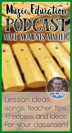 Lesson ideas, songs, teacher tips, inspiration, and a lot more. A music education podcast for the elementary music classroom! Free in the iTunes store, TuneIn, Stitcher, and SoundCloud.