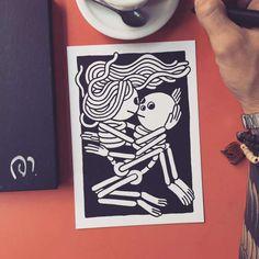 Street Art et Illustration – Les adorables créations en noir et blanc de Muretz (image)